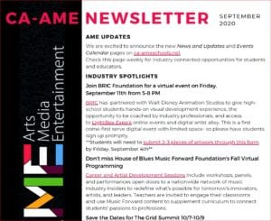 Get the Latest AME Newsletter