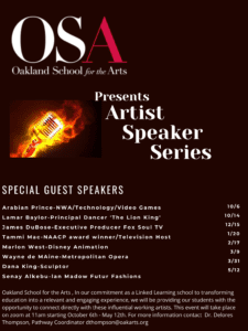 Announcing Oakland School for the Arts: Speaker Series