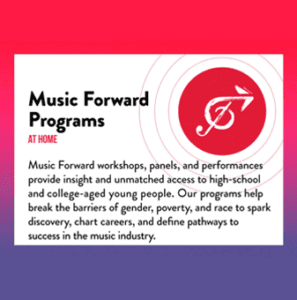 Music Forward Foundation's Free Spring Programming